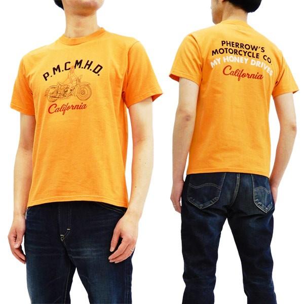 フェローズ 18S-PT20 Tシャツ バイク柄 Pherrow's...