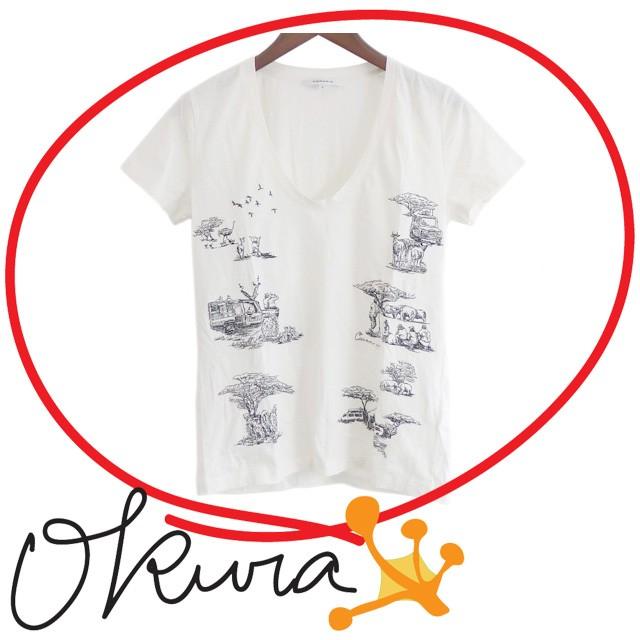 カルヴェン Tシャツ レディース 古着 ホワイト 白...