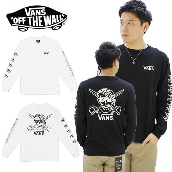 バンズ(VANS) Pirate L/S メンズ ロゴ Tシャツ/長...