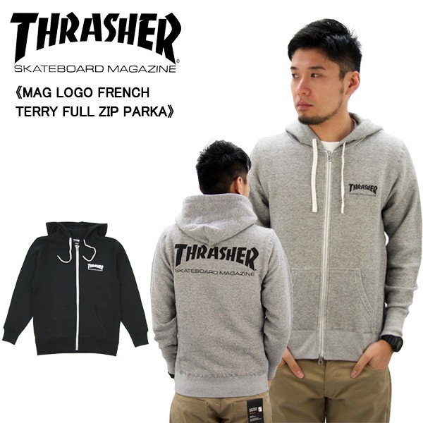 スラッシャー (THRASHER)MAG LOGO FRENCH TERRY F...