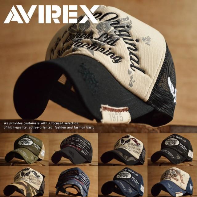 正規品 AVIREX メッシュキャップ 帽子 メンズ ア...
