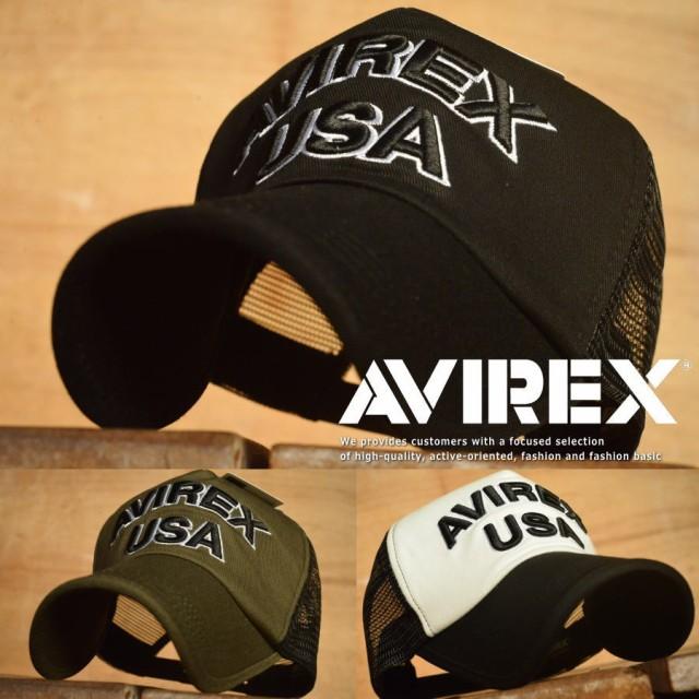 正規品 AVIREX メッシュキャップ 帽子 アビレック...