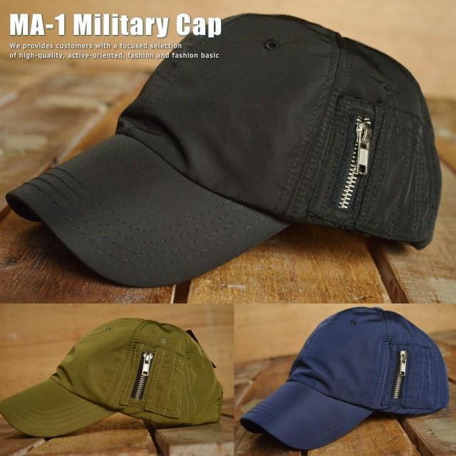 MA-1 キャップ 帽子 メンズ VA3-073 ミリタリーキ...