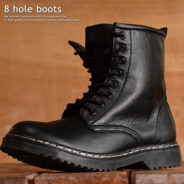 8ホール ブーツ メンズ シンセティック レザー 靴...