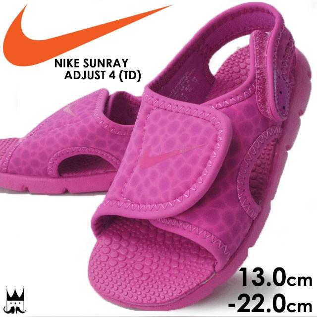 e83271c359c2d ナイキ NIKE サンレイ アジャスト4 (TD) 女の子 子供靴 キッズ ベビー サンダル 386521 SUNRAY