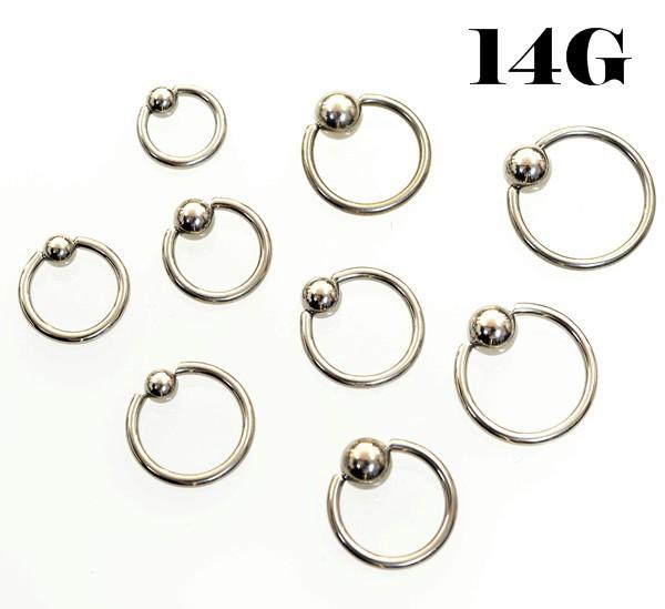 キャプティブビーズリング 【14G/1.6mm】サージカ...