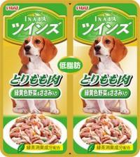 【いなばペット】ツインズ とりもも肉&緑黄色野...