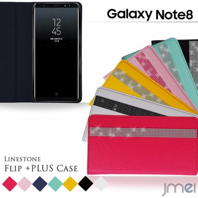Galaxy Note8 ケース SC-01K SCV37 ラインストー...