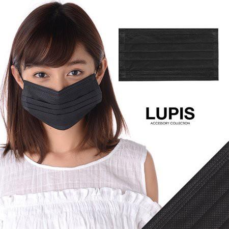 ブラックデザインマスク【マスク 黒 ブラック フ...