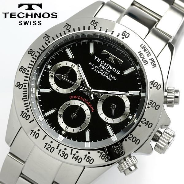 TECHNOS テクノス メンズ クロノグラフ 腕時計 TG...