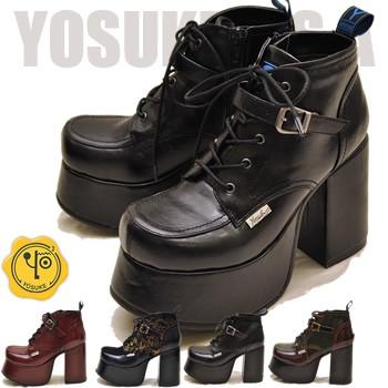 YOSUKE ヨースケ 靴 厚底レースアップブーツ ショ...