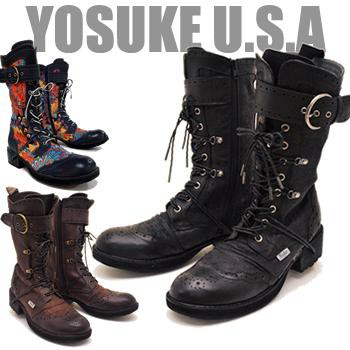 YOSUKE U.S.A メンズ ヨースケ レースアップブ...