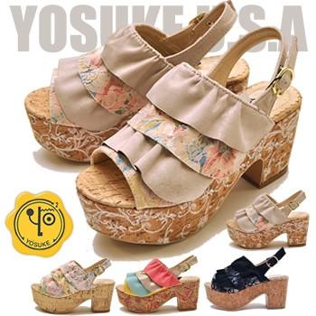 YOSUKE ヨースケ 靴 厚底サンダル レディース