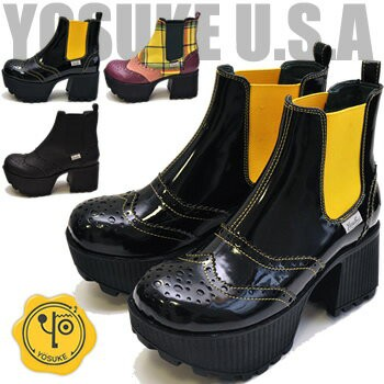 YOSUKE ヨースケ 靴  ウイングチップのサイドゴア...