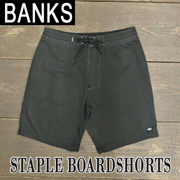 BANKS/バンクス STAPLE BOARDSHORTS DIRTY BLACK ...
