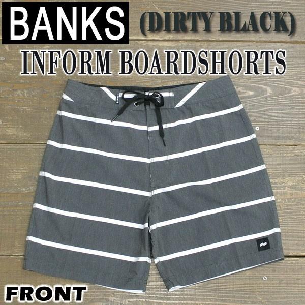 BANKS/バンクス INFORM BOARDSHORTS DIRTY BLACK ...