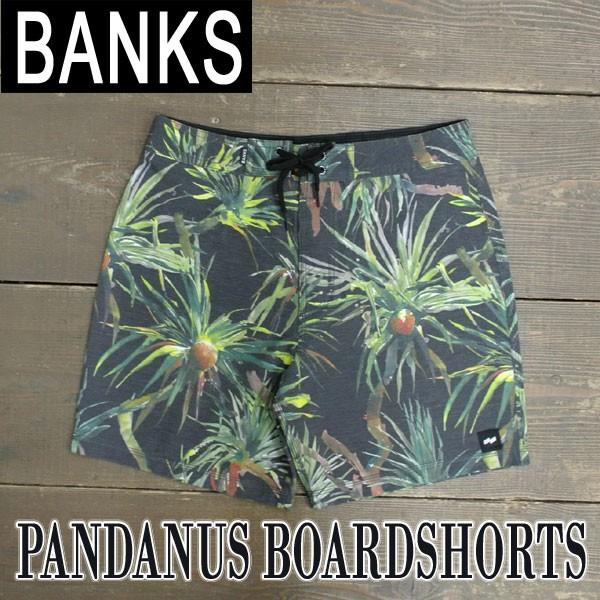 BANKS/バンクス PANDANUS BOARDSHORTS DIRTY BLAC...