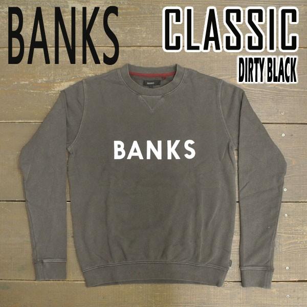 BANKS/バンクス CLASSIC FLEECE DIRTY BLACK メン...