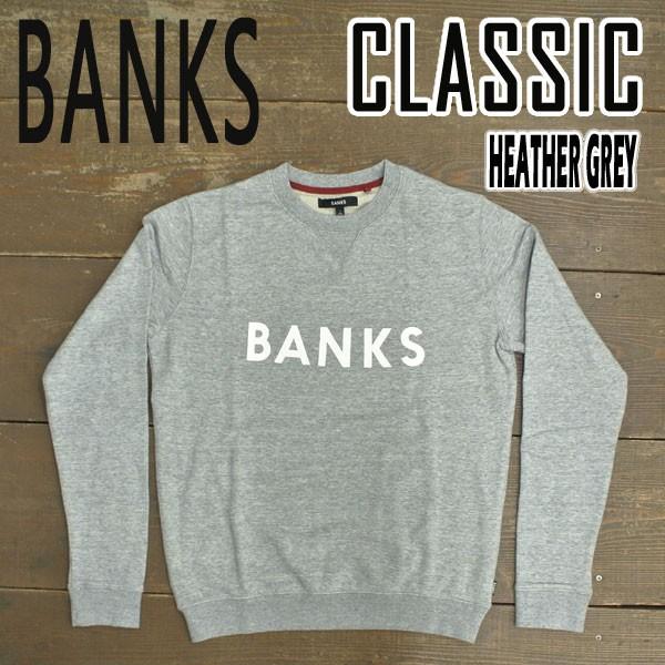BANKS/バンクス CLASSIC FLEECE HEATHER GREY メ...