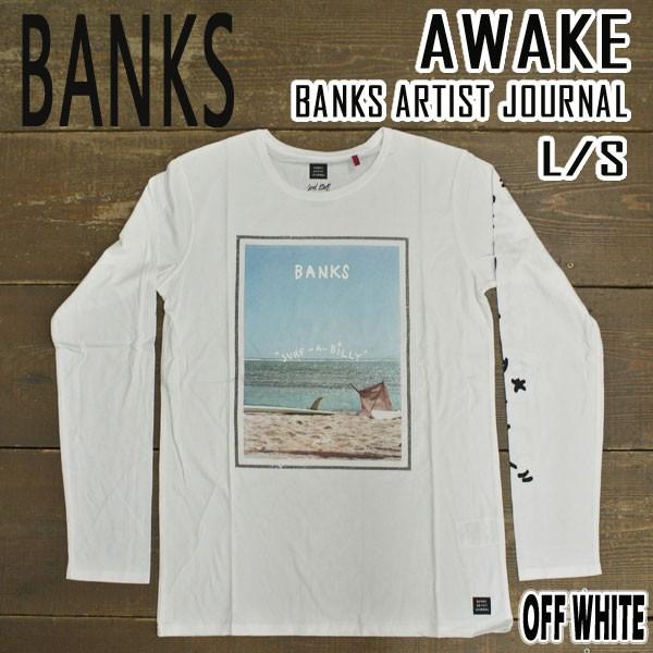 BANKS/バンクス AWAKE OFF WHITE メンズ L/S Tシ...