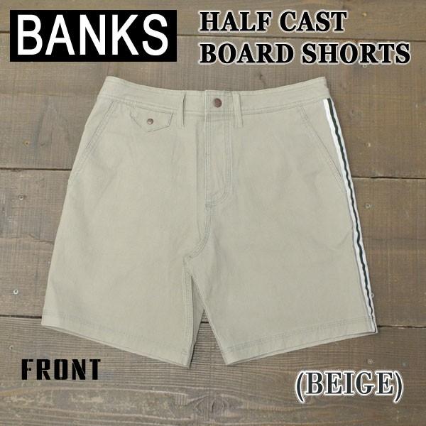BANKS/バンクス HALF CAST BOARDSHORTS BEIGE 男...