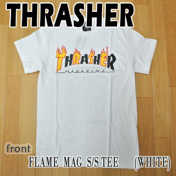 THRASHER/スラッシャー FLAME MAG S/S TEE WHITE ...