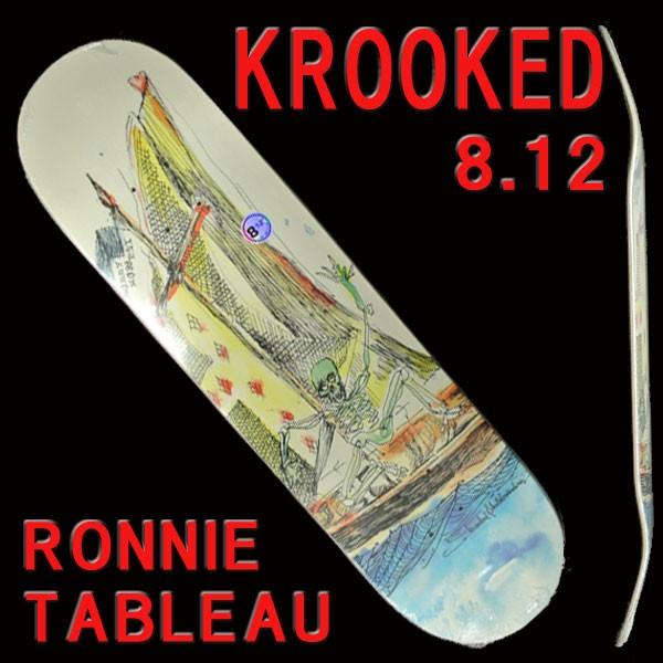 KROOKED/クルキッド スケートボード デッキ WORRE...