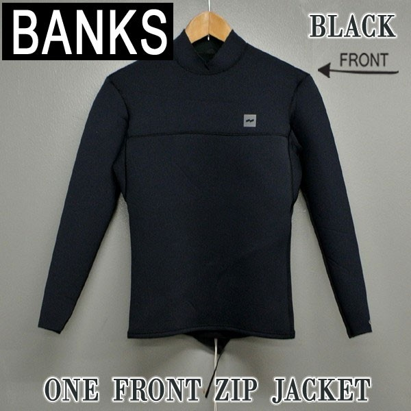 BANKS/バンクス ONE FRONT ZIP JACKET タッパ BLK...