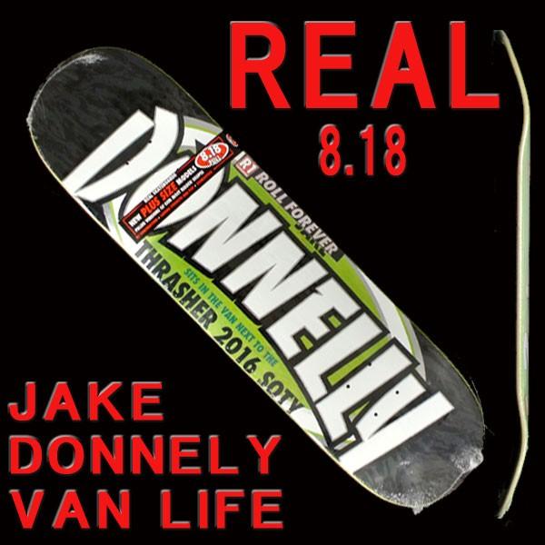 REAL/リアル JAKE DONNELY VAN LIFE 8.18 DECK ス...