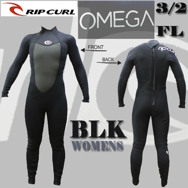 RIP CURL/リップカール OMEGA BACK ZIP BLACK レ...