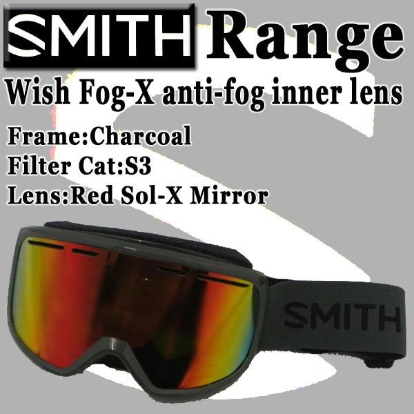 SMITH/スミス SNOW GOGGLE RANGE AIRFLOW CHARCOA...