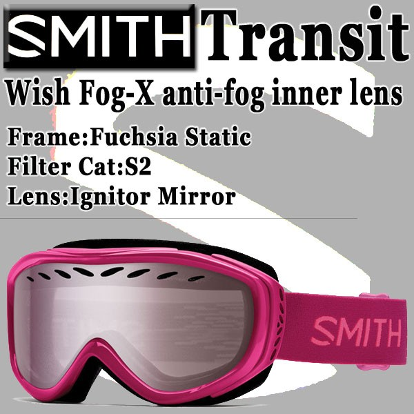 SMITH/スミス SNOW GOGGLE TRANSIT AIRFLOW PINK ...