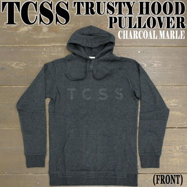 TCSS TRUSTY HOOD CHARCOAL MARLE フード付きパー...