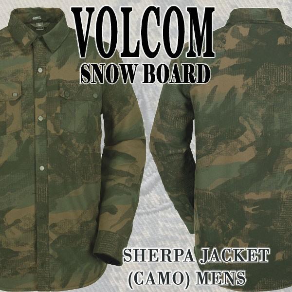 VOLCOM/ボルコム SHERPA JACKET CAMO メンズ 男性...