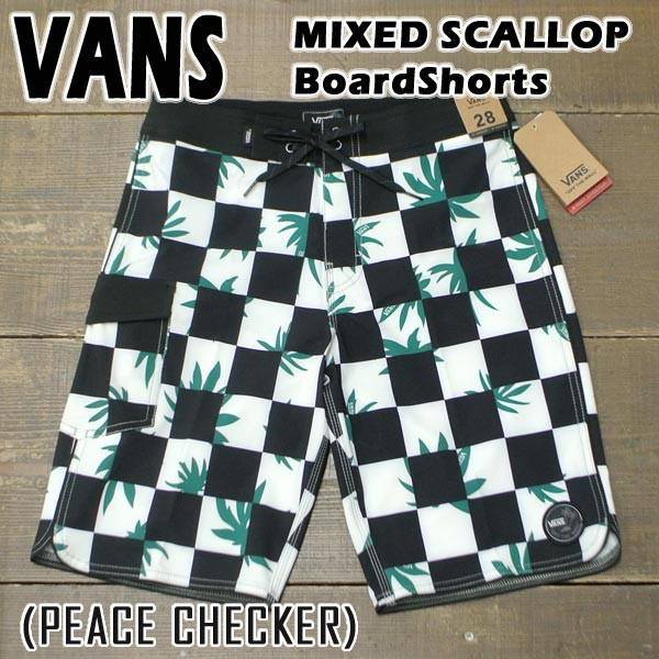 VANS/バンズ MIXED SCALLOP 20 BOARDSHORTS PEACE...