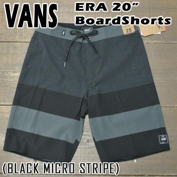 VANS/バンズ ERA 20 BOARDSHORTS BLACK MICRO STR...
