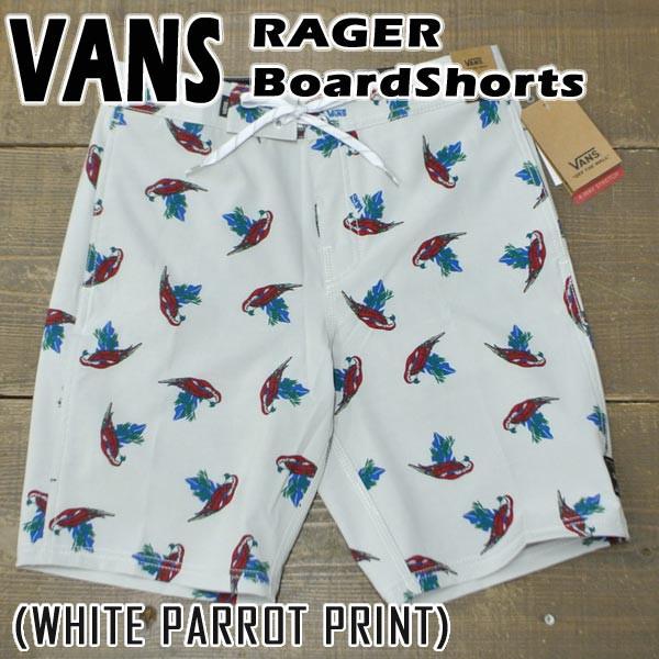 VANS/バンズ RAGER 19 BOARDSHORTS WHITE PARROT ...