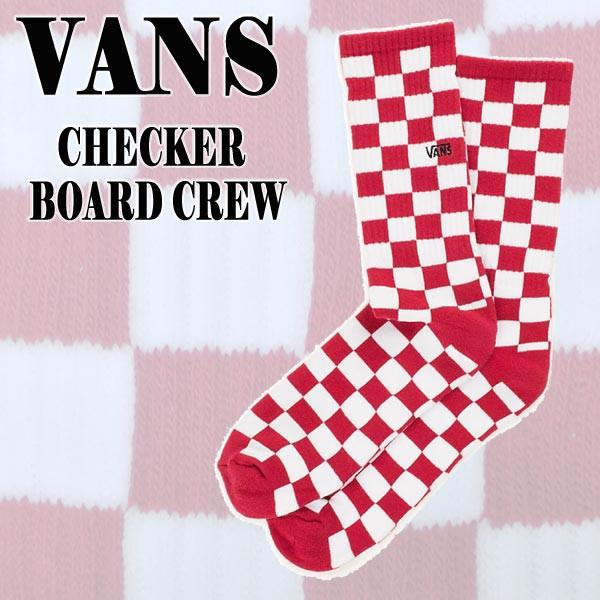 VANS/バンズ メンズ ソックス CHECKER BOARD CREW...