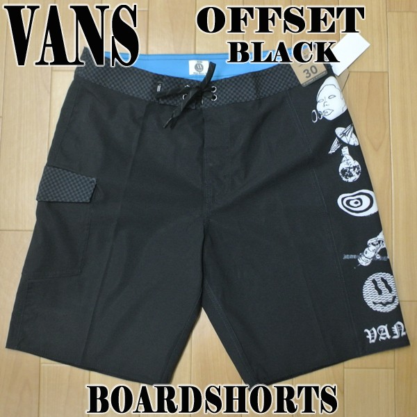 VANS/バンズ OFFSET BOARDSHORTS BLACK 男性用 サ...