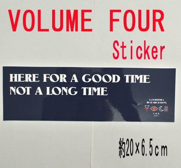 VOL4/VOLUME FOUR/ボリュームフォー NAVY STICKER...