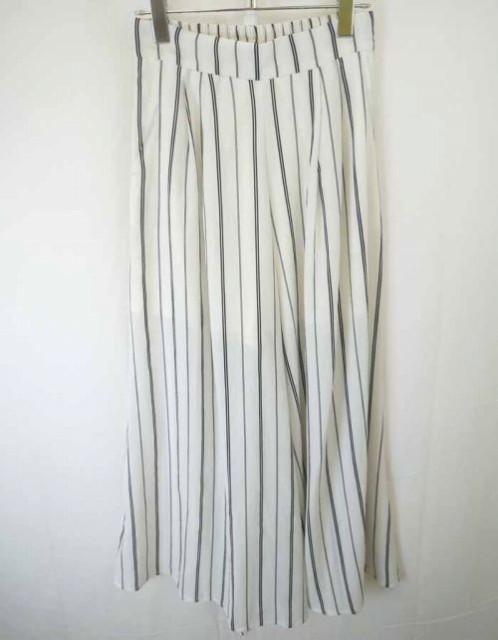 OZOC(オゾック)パンツ/白/紺/ストライプ//Aランク...
