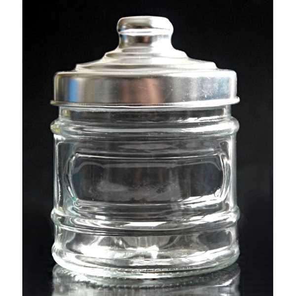 保存容器 ガラス製 アルミキャップ付