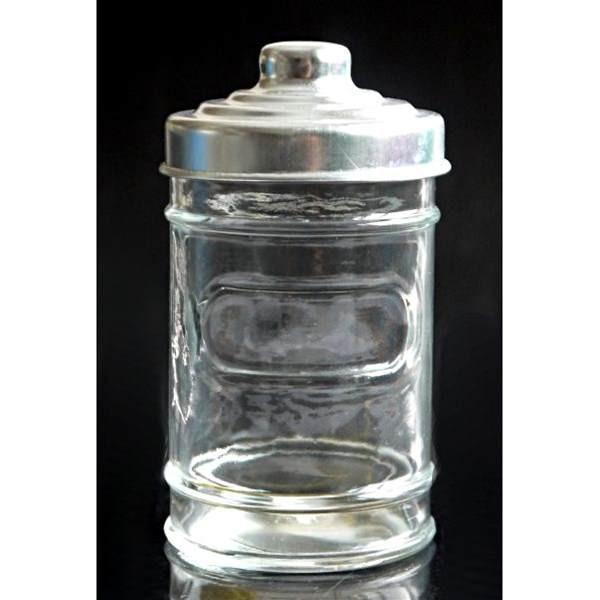 保存容器 ガラス製 アルミキャップ付 スリム