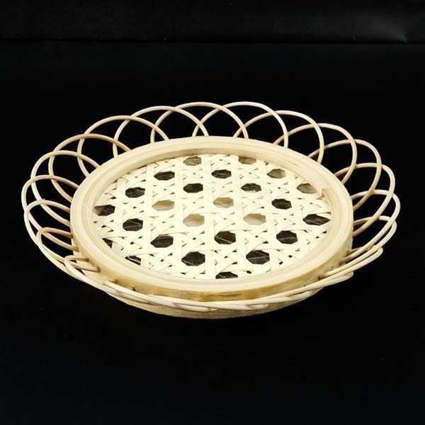 コースター 竹製 直径11.3cm [柄指定不...