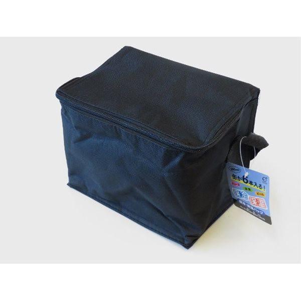 保冷・保温 缶6本用バッグ ブラック