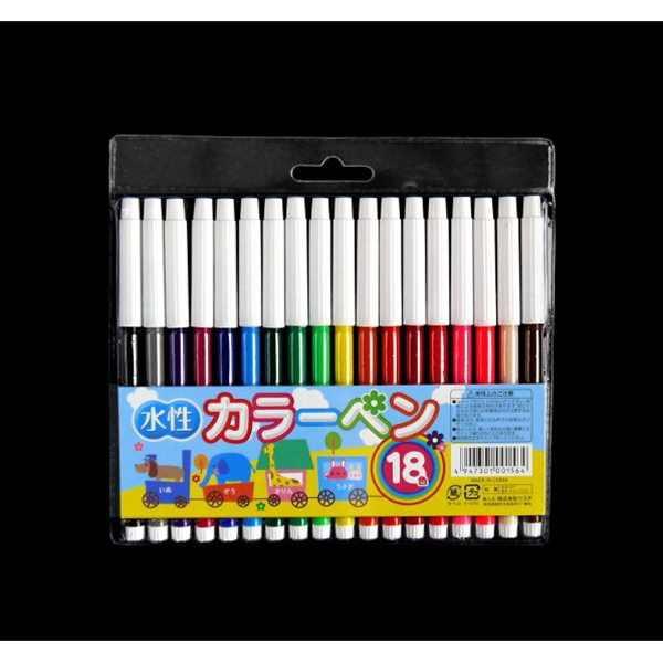 カラーペン 水性 18色入