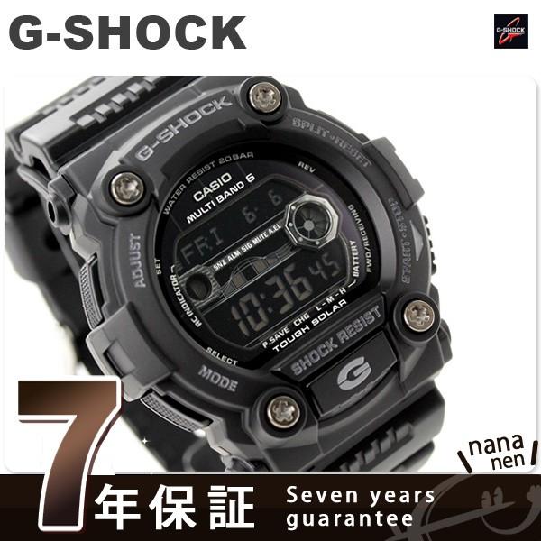 CASIO G-SHOCK G-ショック 電波 ソーラー 腕時計 タイドグラフ・ムーンデータ搭載 フルブラック GW-7900B-1