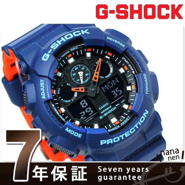 【あす着】G-SHOCK スペシャルカラー レイヤードカラー 腕時計 GA-100L-2ADR Gショック ブラック×オレンジ