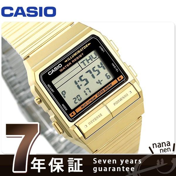 カシオ データバンク メンズ 腕時計 DB-380G-1DF ...