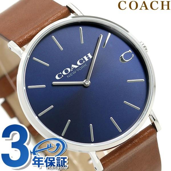 【あす着】コーチ COACH 腕時計 メンズ 41mm 革ベ...